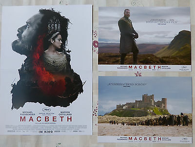 MACBETH - Lobby Cards Set of 6 + Huge Card - Michael Fassbender, M. Cotillard