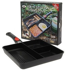 New NGT 3 way multi section frying pan for carp/coarse fishing