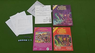TSR Dungeons and Dragons DND 1980 Basic Set with Module B2 Keep on Borderlands