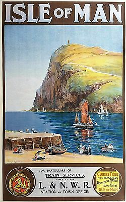 Home Wall Art Print - Vintage Retro Travel Poster - ISLE OF MAN - A4 ,A3