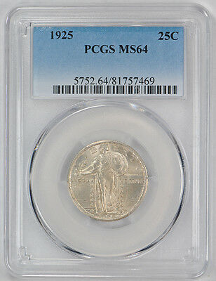 1925 25C Standing Liberty Quarter PCGS MS 64 Uncirculated