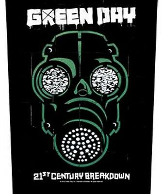 Green day BACK PATCH New Official Gas mask