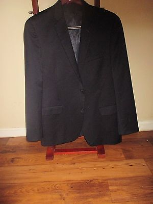 Alfani Slim Fit Jacket Sport Coat 44L Black Wool Blend 2 button 2 vent