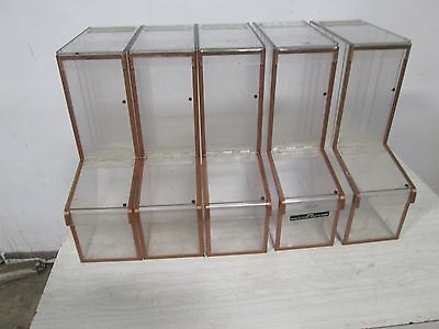 Lot Of (5) Commercial Acrylic Coffee Bean/candy/grain Display Dispenser