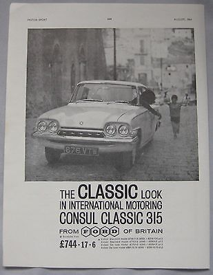 1961 Ford Consul Classic 315 Original advert