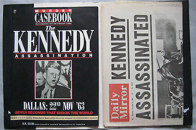 Murder Casebook Special with newspaper of the day The Kennedy Assassination