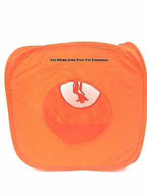Pop Up Cat Kitten Rabbit Play Cube Tent House Sleeping Cosy Warm