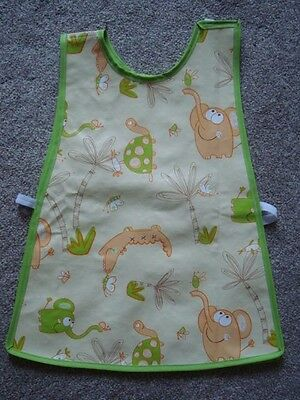 READ LISTING PVC craft food tabard apron coverall jungle kids unisex wipe clean