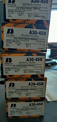 Lot of 5 Ranco A30-450 air conditioning controls