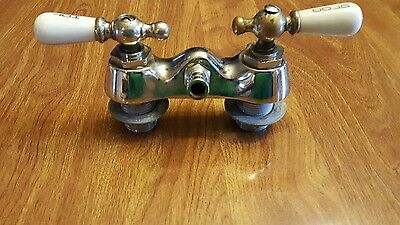 Vintage Rockwell Faucet with Porcelain Hot/ Cold Handles