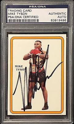 Mike Tyson Signed Boxing Card PSA Slabbed 83919496