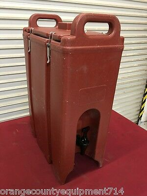 5 Gallon Cambro Insulated Drink Dispenser LCD 500 #5350 Brown NSF Catering Hot