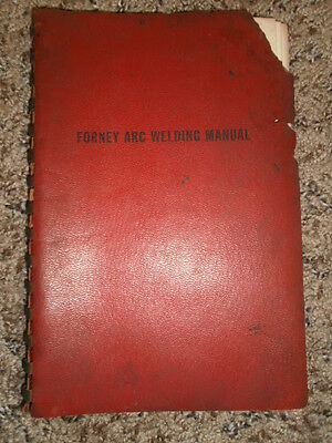 1952 Forney Arc Welding Manual
