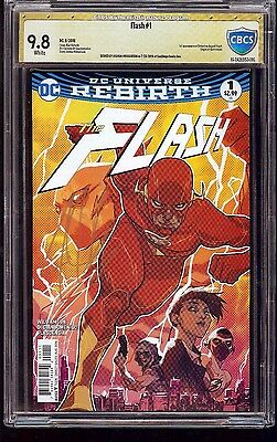 The Flash #1 CBCS 9.8 Signed by Joshua Williamson 1st app Det. Heart DC Rebirth
