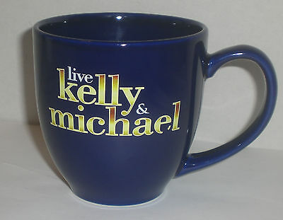 Live With Kelly And Michael Show Chat Mug Cup Coffee Kelly Ripa Michael Strahan