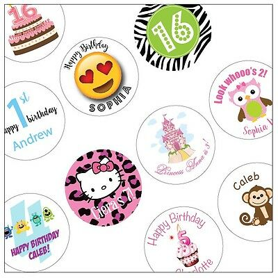 30 Birthday Personalized Stickers - You pick design!
