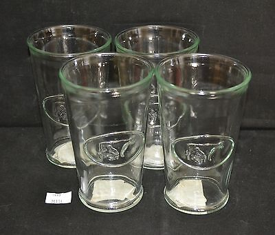ThriftCHI ~ Four Anthropologie Water Glasses w Woman Milking Cow Design
