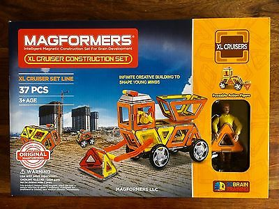 NEW!Magformers XL Cruisers Construction Set (37-pieces)
