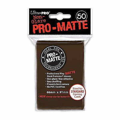 Ultra Pro Pro-Matte Deck Protector Sleeves 50 ct Brown