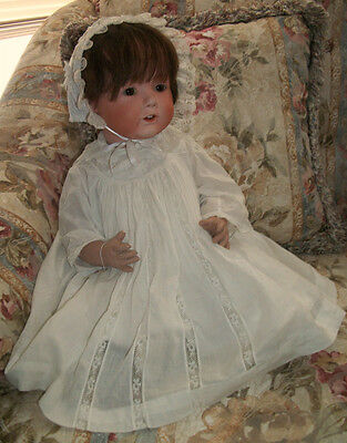"""Early 1900's Nippon 22"""" Bisque Doll on bent limb Composition Baby Body"""