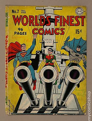 World's Finest (1941) 7 Front and Back Cover Only