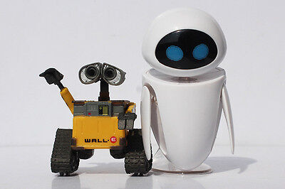 Set of 2pcs Disney Pixar Robot Wall-E and Eee-Vah EVE Action Figure Kid's Gift