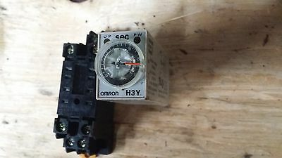 Omron H3Y-2 Timer with base Used made In Japan