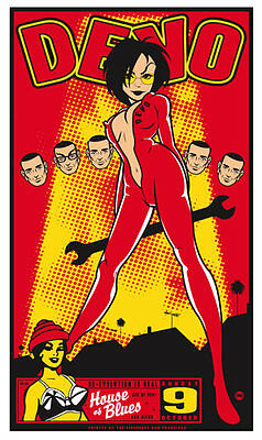Devo House Of Blues 2005 Silkscreen Poster by Scrojo signed #d edition of 125