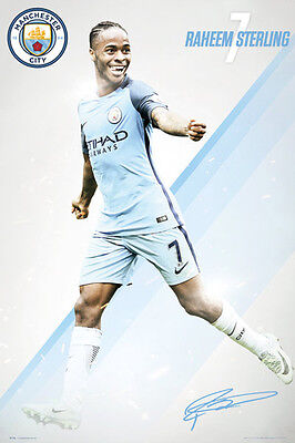 579573a1c2ae New RAHEEM STERLING Signature Series Manchester City 2016/17 EPL Soccer  POSTER