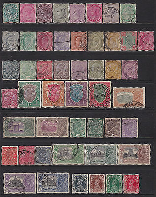India Collection of Stamps 4 Pages 1882 to 1971 all different no duplication