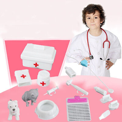 14PCs Medical Kit Doctor Toys Set Role Play Children Pretend Play House Doctora~