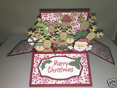 Handmade Christmas card in a box style