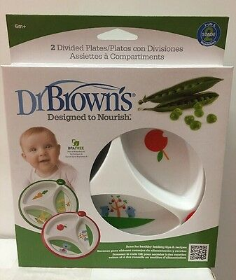 Dr. Brown's 2 Divided Plates for Toddlers