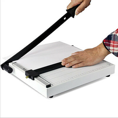 New Heavy Duty A4 Paper Guillotine Cutter Trimmer Machine Home Office HC