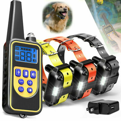 Pet Training Waterproof Rechargeable Dog Training Collar Shock Remote 1/2/3 Dogs