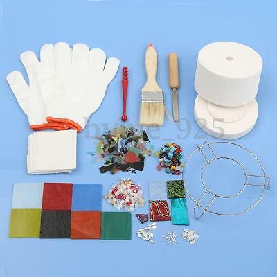 15Pcs/Set Small Microwave Kiln Kit Stained Glass Fusing Supplies Professional