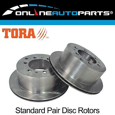 2 Rear Disc Rotors suits Landcruiser 80 Series 1990-8/92 FJ80 HDJ80 HZJ80 Brake