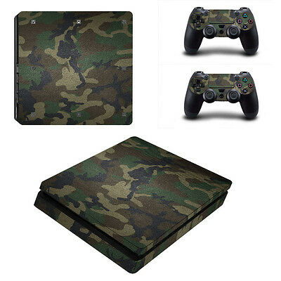 0072* Skin Sticker Vinyl Decal Cover For PlayStation PS4slim Console+Controllers