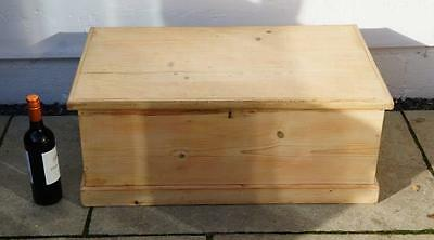 Small Victorian pine blanket box/chest, re-furbished 78w x 32h x 47d - VGC