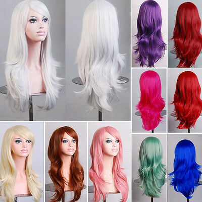 Fashion Natural Curly Wig Wavy Fancy Dress Hot Womens Ladies Hair Wig Cosplay
