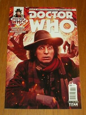 Doctor Who #3 Fourth Doctor Titan Comics Cover B July 2016 Nm (9.4)