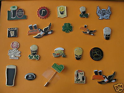 rare Guinness collection of  Enamel tie or lapel Pin badge (all in picture)