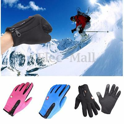 Warm Windproof Waterproof Touch Screen Gloves Mitten Fleece Outdoor Cycling Bike