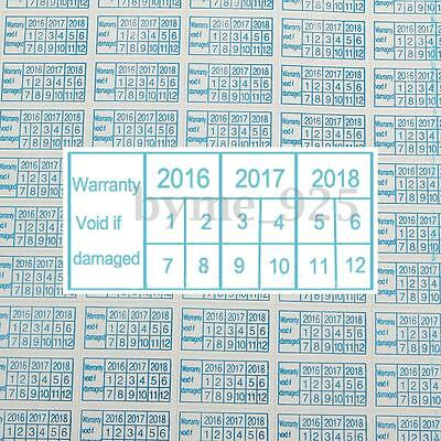 600pcs 2016 - 2018 Warranty Void If Damaged Protection Security Label Sticker