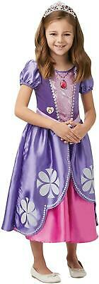 Girls Sofia The First Costume Disney Princess Fancy Dress Child Outfit