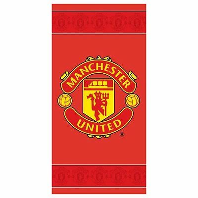 Manchester United Fc Border Towel Red 100% Cotton Beach Towel Free P+P New