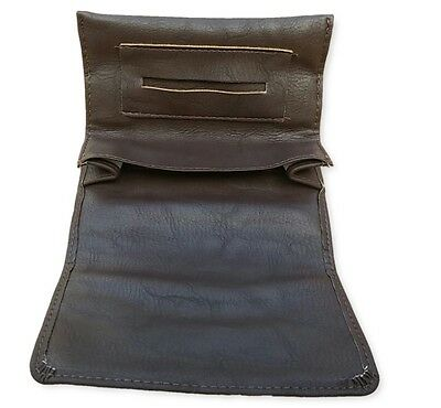 Brown tobacco pouch case wallet purse rolling cigarette new!!!