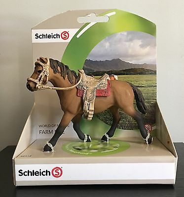 Schleich Bay Horse Figure #42112 W/ Saddle Bridle New In Original Package
