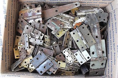 Big Lot 21+ lbs Assorted Hinges Hardware Architectural Salvage Craft Steampunk