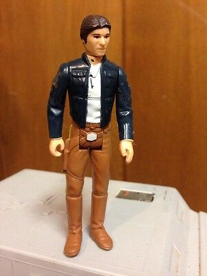 "Vintage 1980 Star Wars Han Solo Bespin 3.75"" Action Figure Empire Strikes Back"